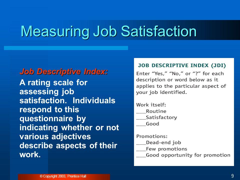 job satisfaction questionnaire scale pdf