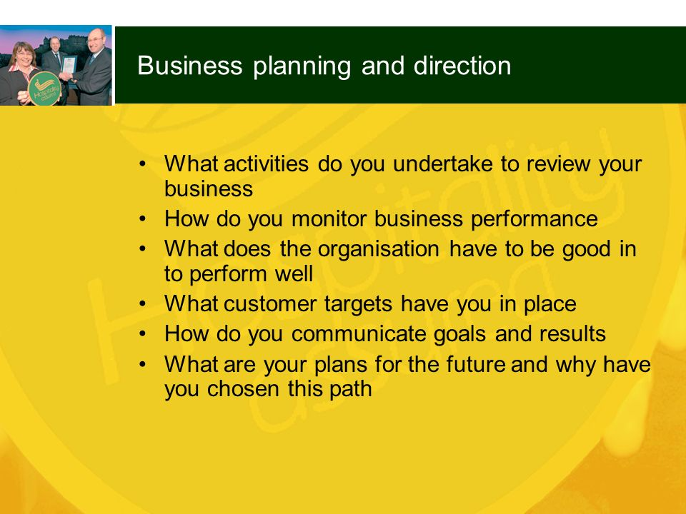 Business planning and direction