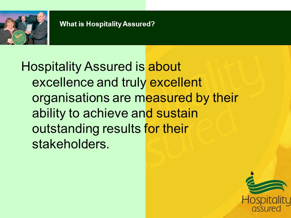 What is Hospitality Assured