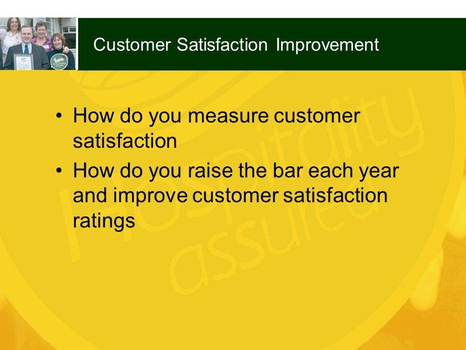 Customer Satisfaction Improvement
