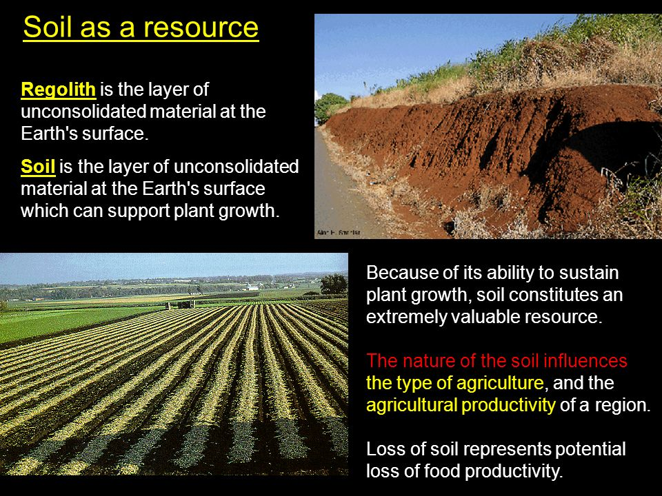 Soil as a resource regolith is the layer of unconsolidated for Earth soil composition