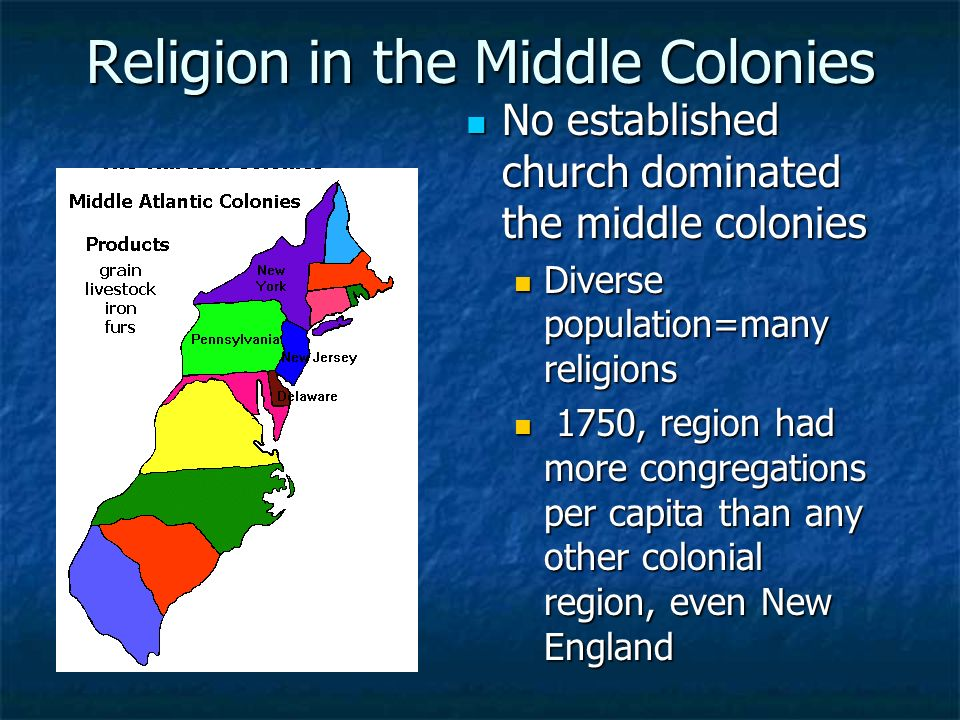The Middle Colonies Restoration Colonies Ppt Download - Middle colonies religion