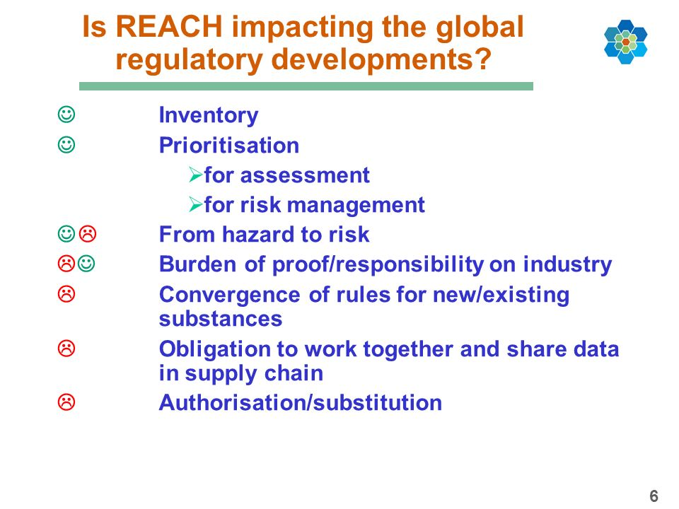Is REACH impacting the global regulatory developments