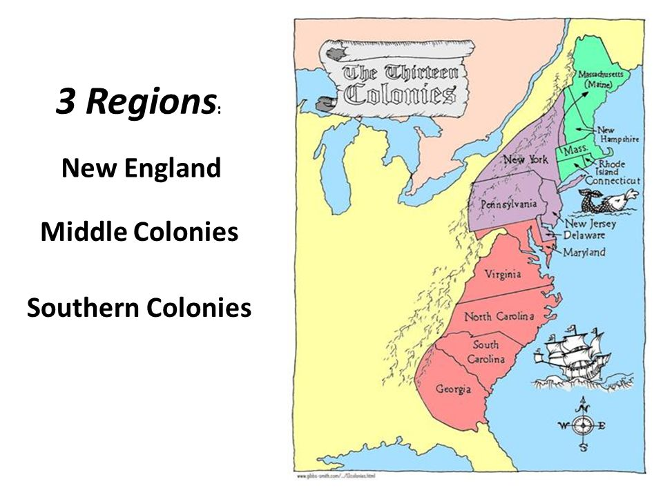 Compare & Contrast between New England, Middle, and Southern Colonies Essay