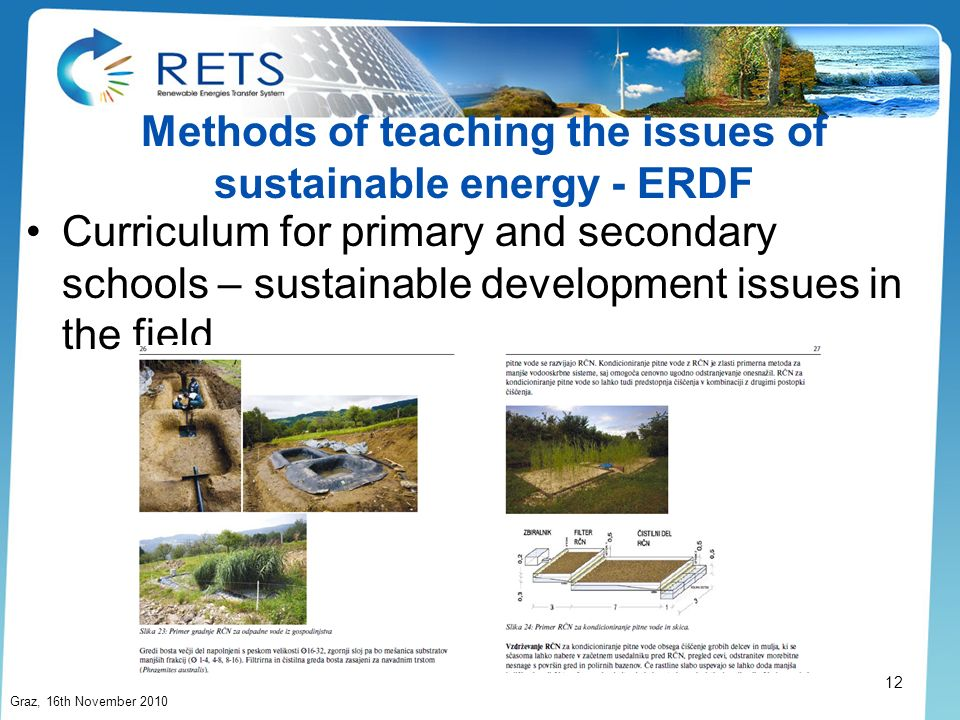 Methods of teaching the issues of sustainable energy - ERDF