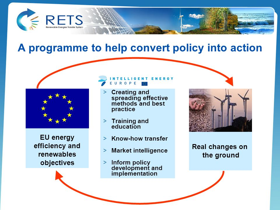 A programme to help convert policy into action