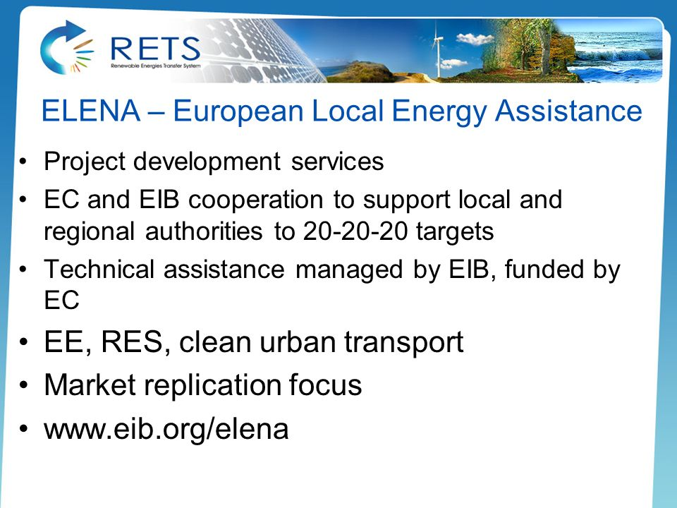 ELENA – European Local Energy Assistance