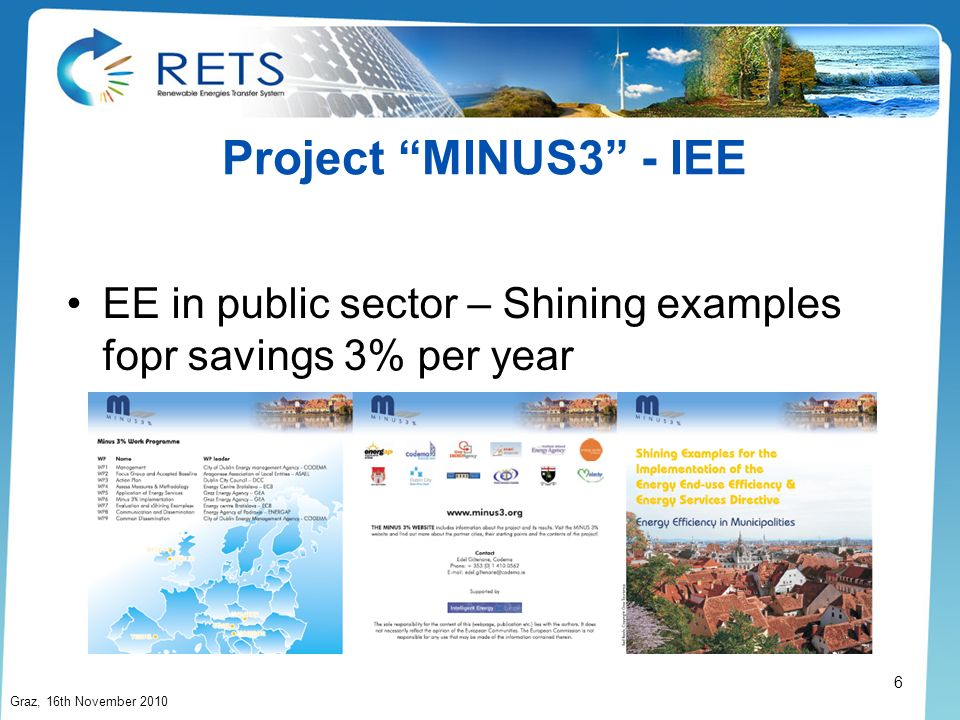 Project MINUS3 - IEE EE in public sector – Shining examples fopr savings 3% per year.