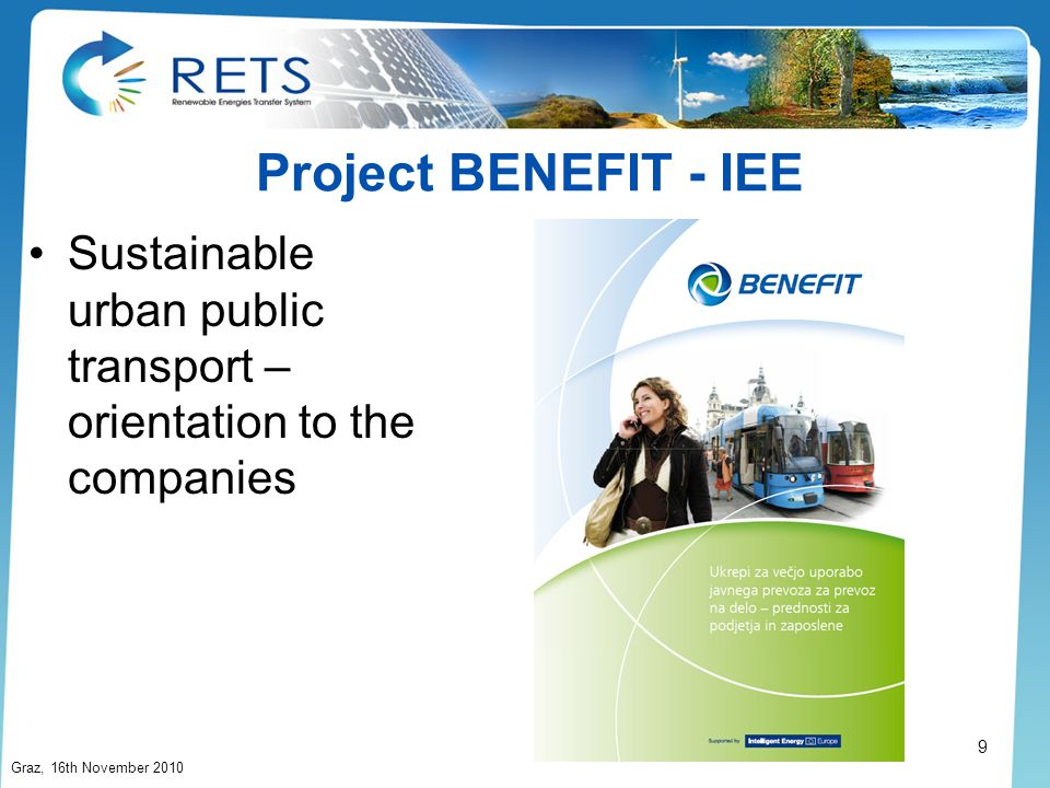 Project BENEFIT - IEESustainable urban public transport – orientation to the companies.