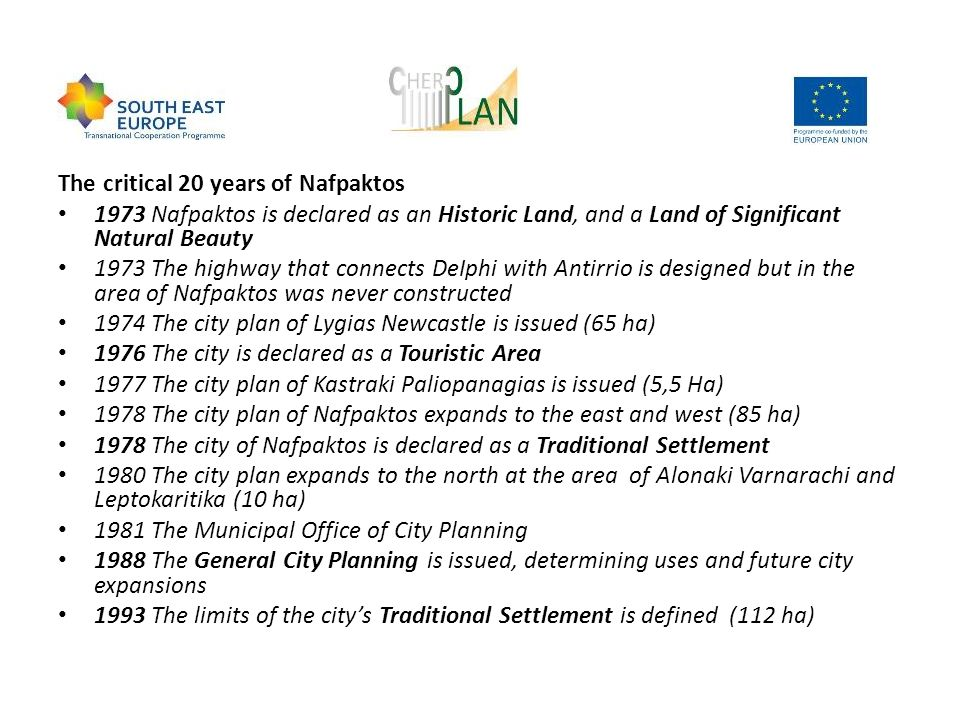 The critical 20 years of Nafpaktos