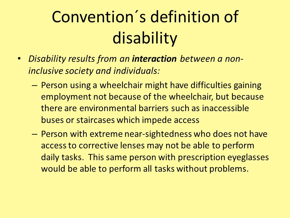Convention´s definition of disability
