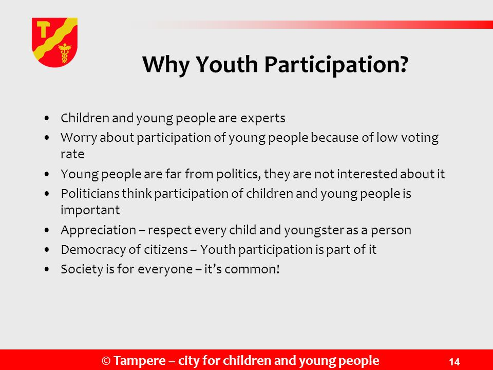 Why Youth Participation
