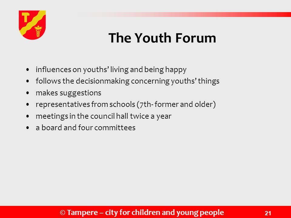 The Youth Forum influences on youths' living and being happy