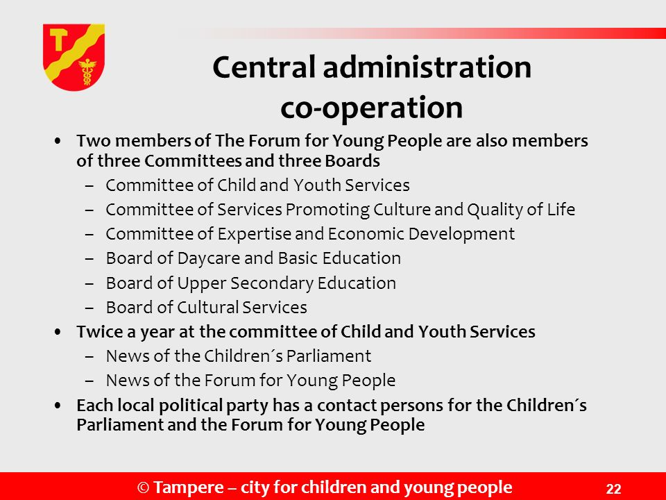 Central administration co-operation