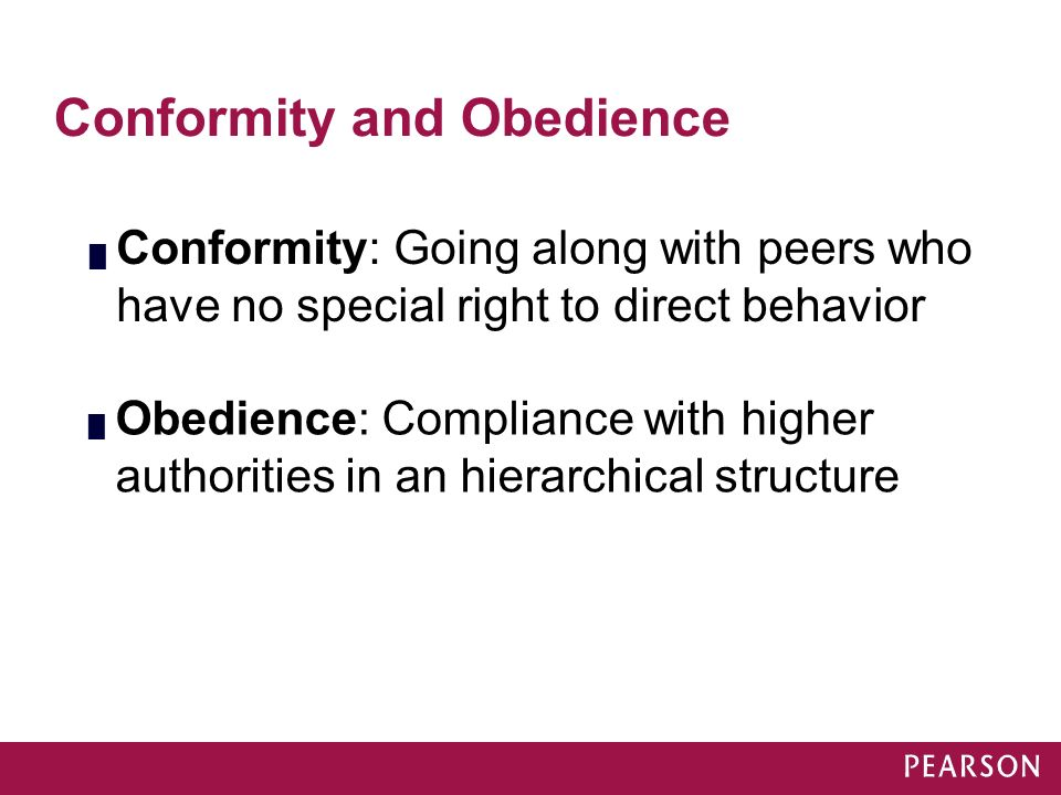 obedience conformity and compliance This review covers recent developments in the social influence literature, focusing primarily on compliance and conformity research published between 1997 and 2002 the principles and processes underlying a target's susceptibility to outside influences are considered in light of three goals fundamental to rewarding human functioning.