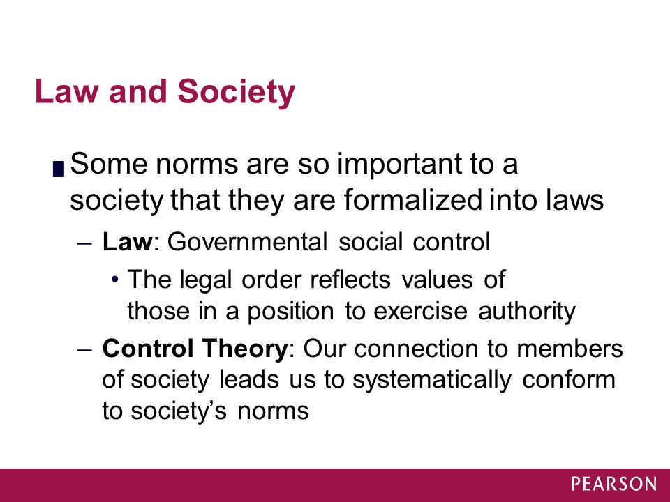 law and social order It is about the preservation of a certain social order, not the rule of law.
