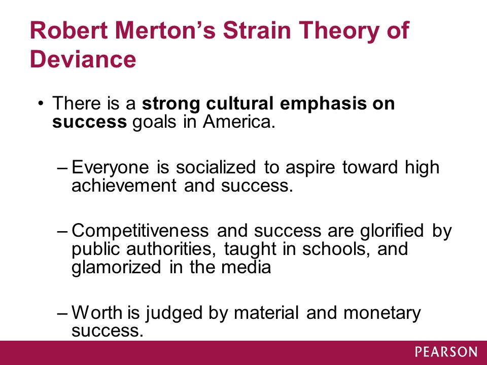 with refernce to robert merton strain Start studying sociology learn vocabulary, terms, and more with flashcards, games, and other study tools.