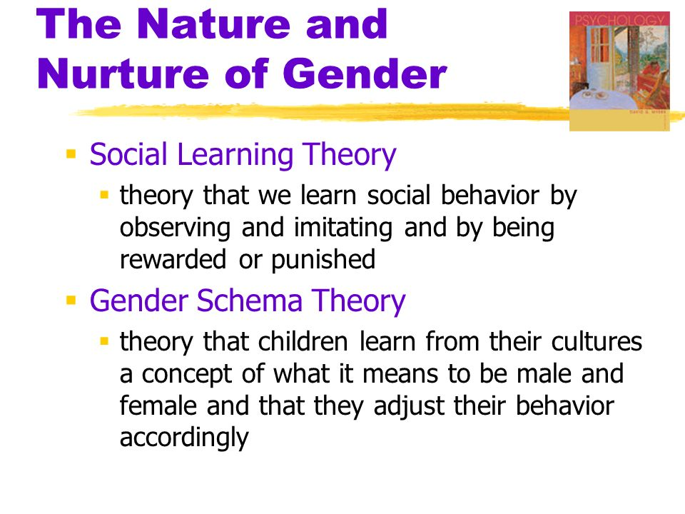 gender determined by nurture or nature Sexuality: the nature v nurture debate  not biological or genetically determined such scientific studies span 100 years the history of these experiments is not a proud one the nazis .