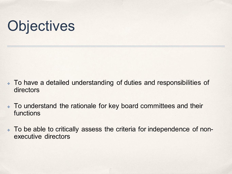 duties and responsibilities of directors