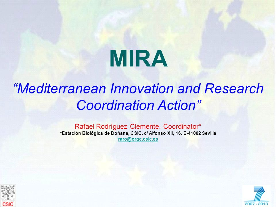 MIRA Mediterranean Innovation and Research Coordination Action
