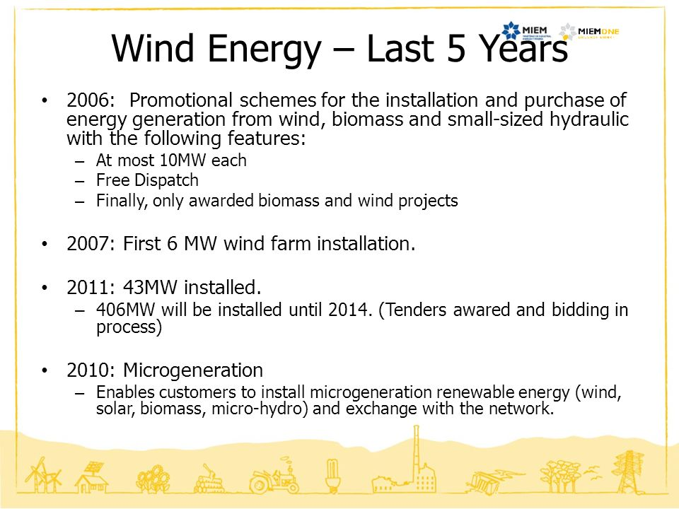 Wind Energy – Last 5 Years