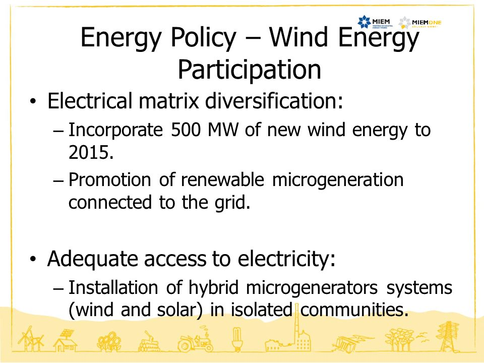 Energy Policy – Wind Energy Participation