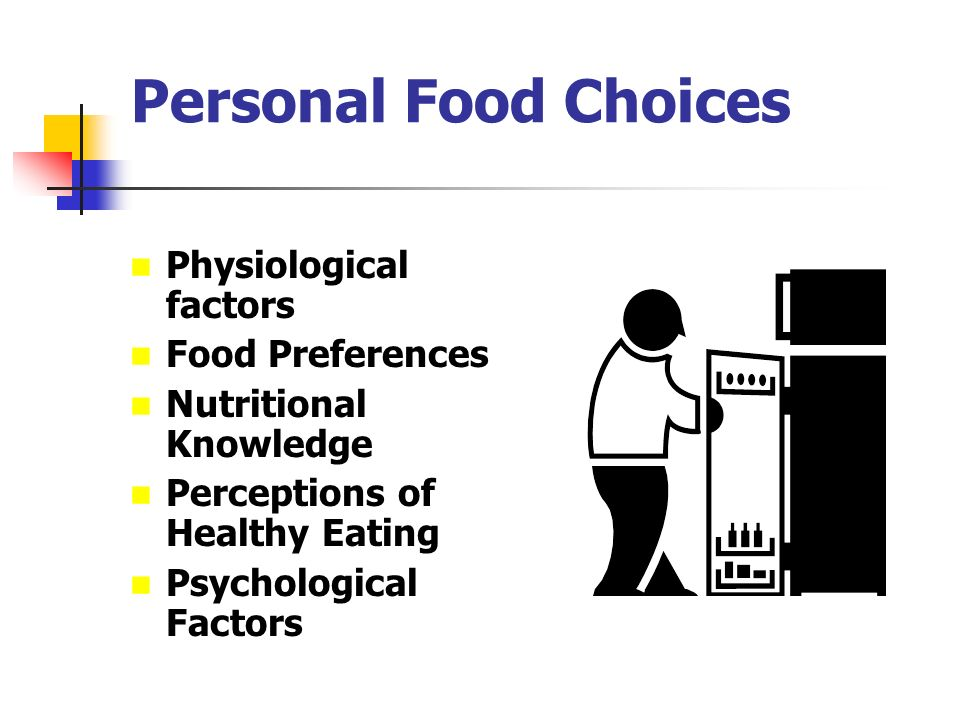 food selection physiological factor The factors influencing food selection can be arbitrarily clas­ sified as physiological, sensory, and cognitive in the framework of existing knowledge, the physiological factors encom.