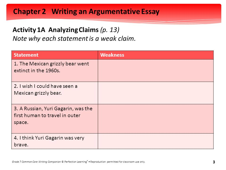 arguementative essay on the