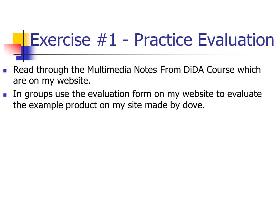 G050: Lecture 02 Evaluating Interactive Multimedia Products - Ppt