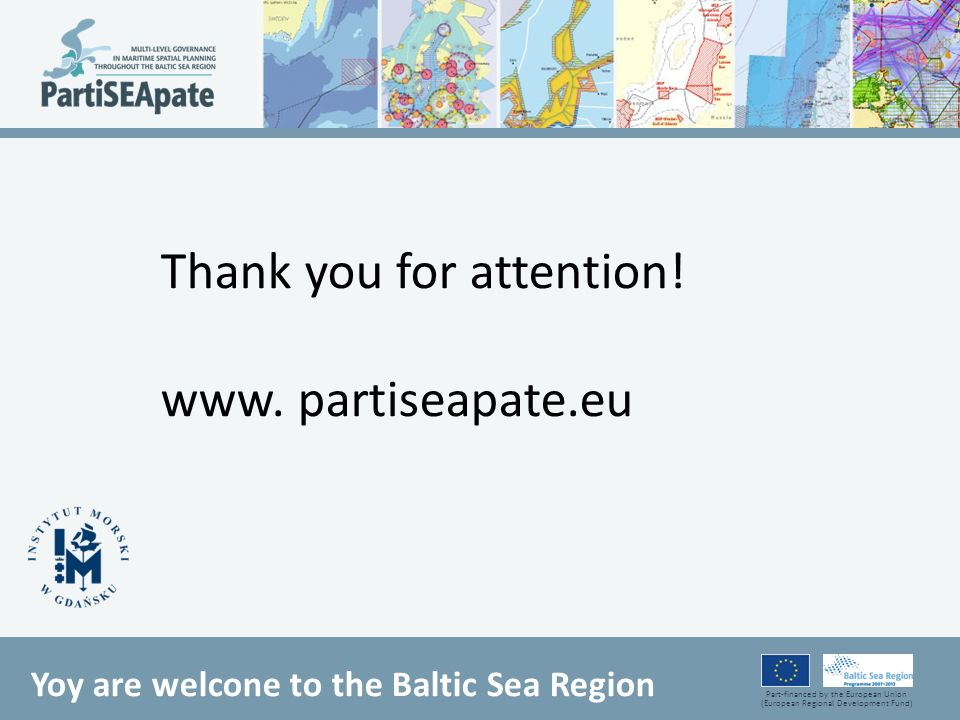 Thank you for attention! www. partiseapate.eu