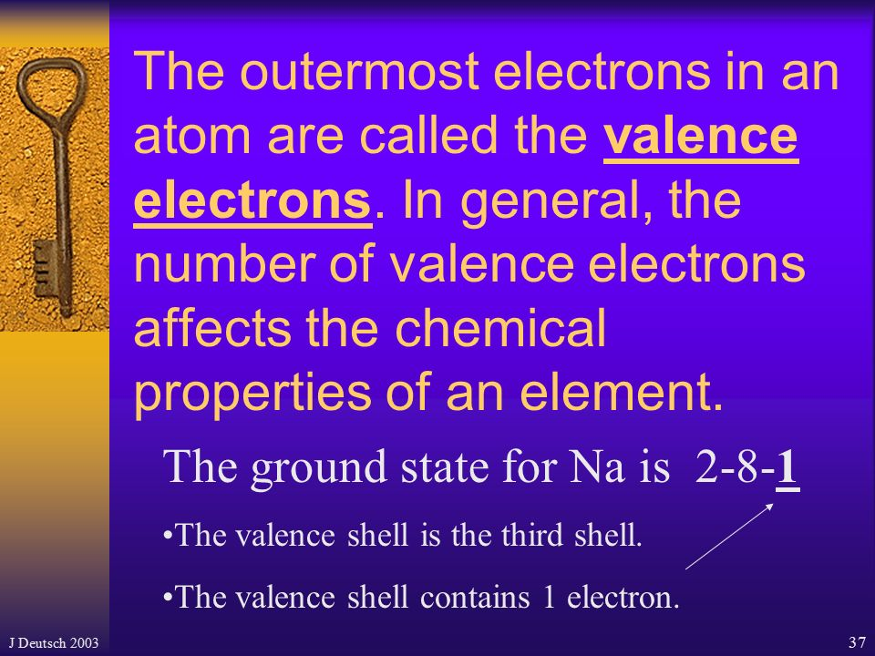 The outermost electrons in an atom are called the valence electrons