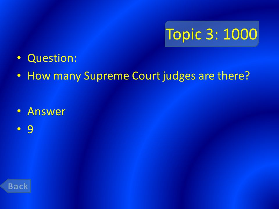 Topic 3: 1000 Question: How many Supreme Court judges are there