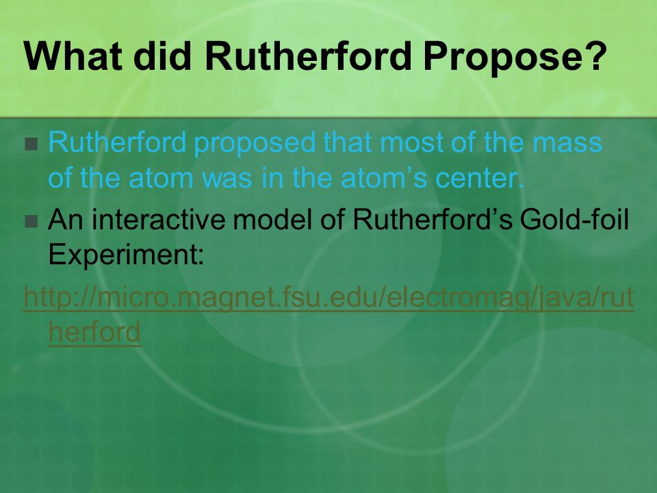 What did Rutherford Propose