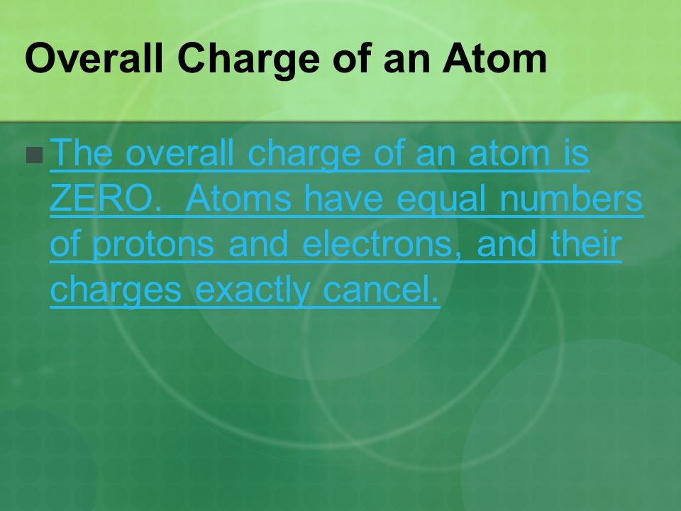 Overall Charge of an Atom