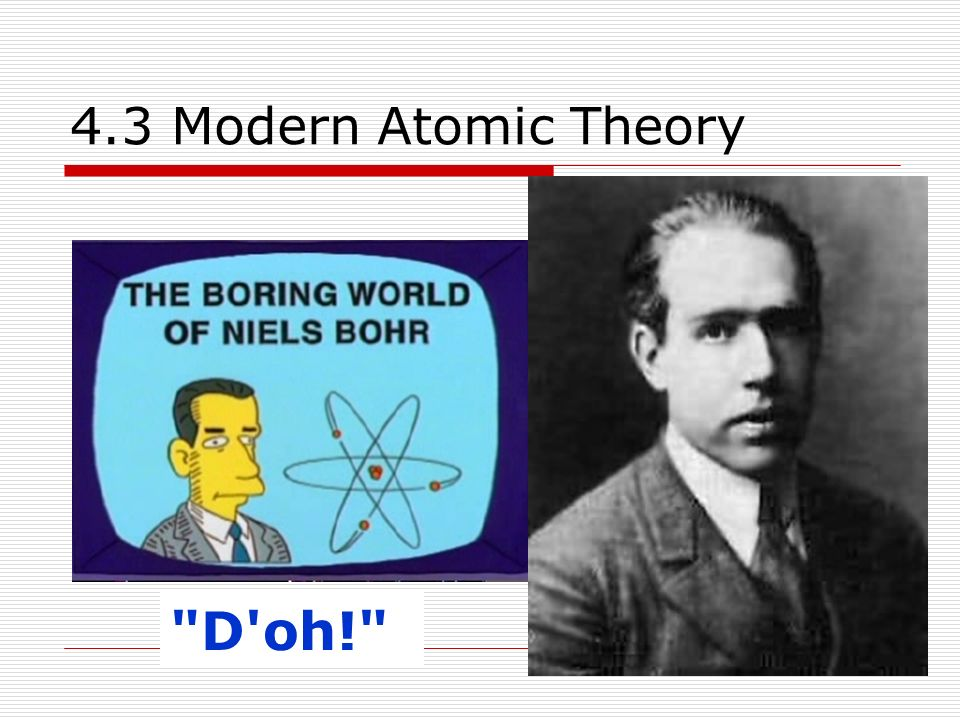 4.3 Modern Atomic Theory D oh!