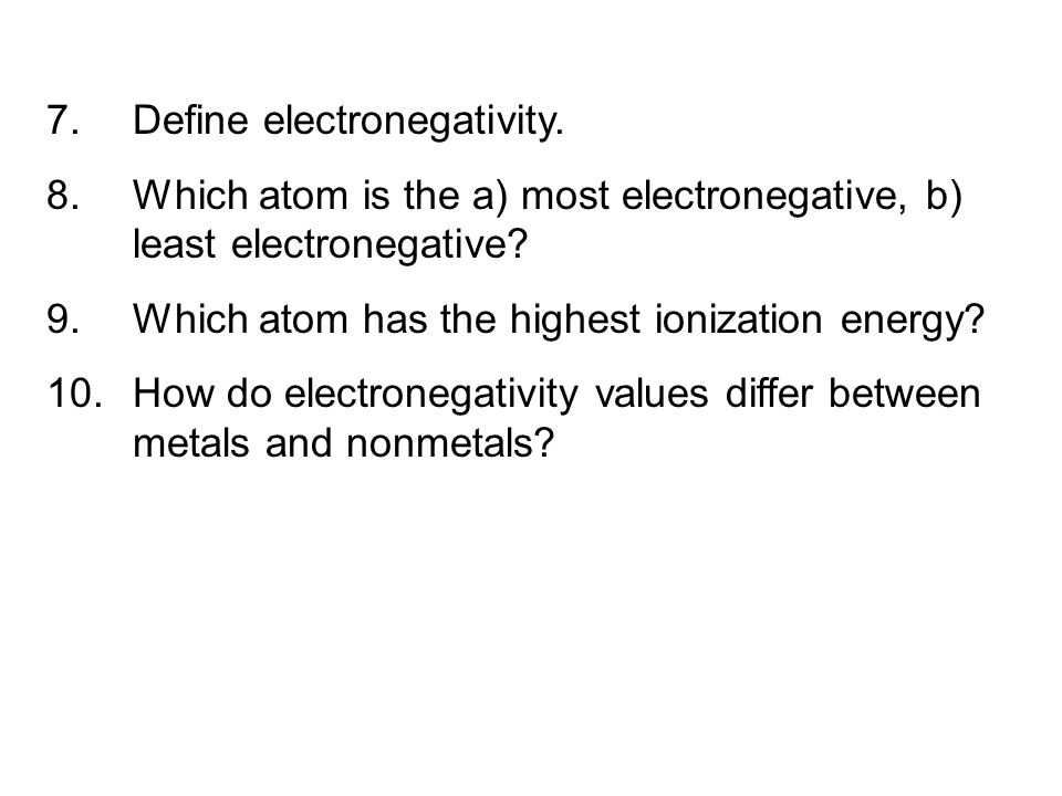 Define electronegativity.