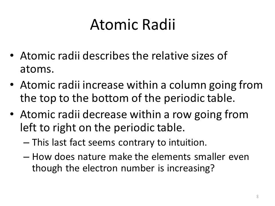 8 atomic - Periodic Table Left To Right Atomic Radius