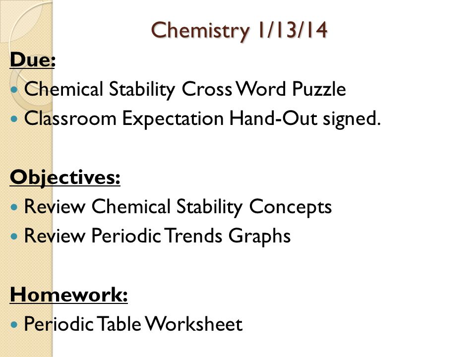 Periodic Table Trends Objectives ppt download – Periodic Trend Worksheet
