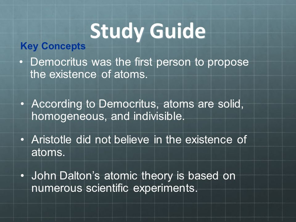Atom Study Guide Coursework Sample 2379 Words