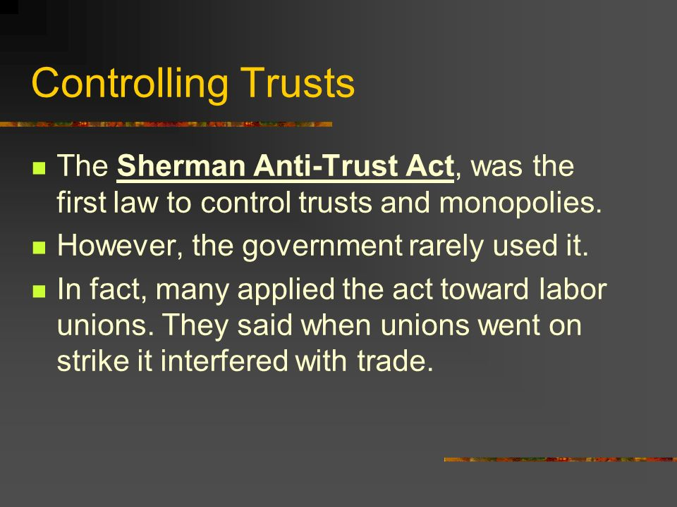 microsoft on anti trust and monopolies Economics textbook chapter that talks about monopolies and the sherman anti-trust act.