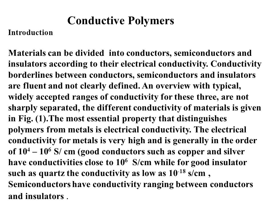 Examples Of Electrical Conductivity Materials
