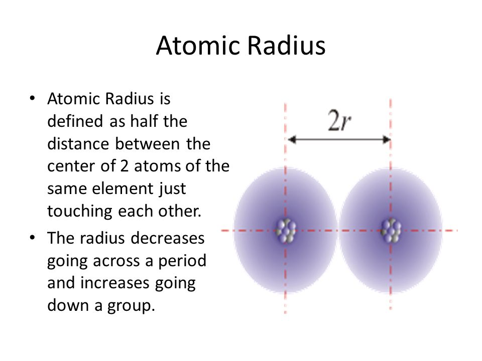 periodic trends 2 atomic radius atomic radius is defined - Define Periodic Table Atomic Radius