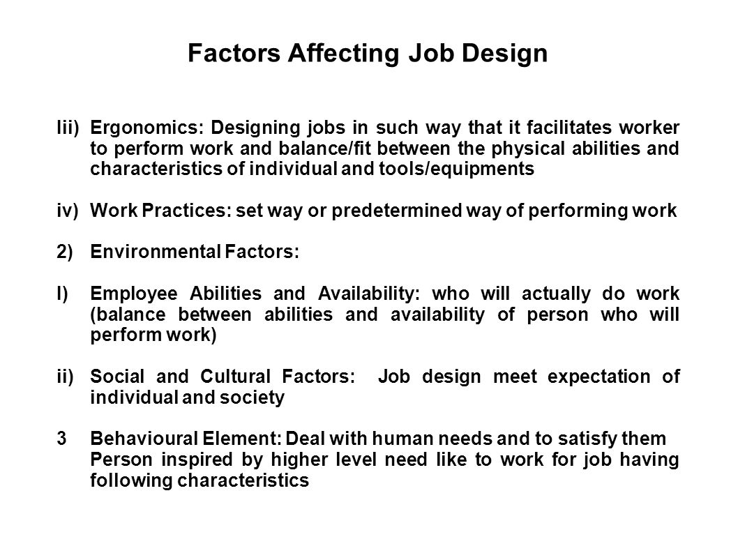 Major Work-Related Risk Factors