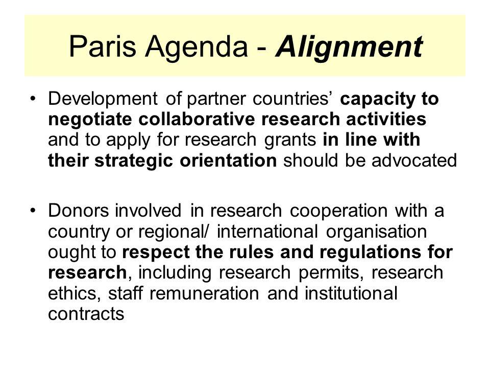 Paris Agenda - Alignment