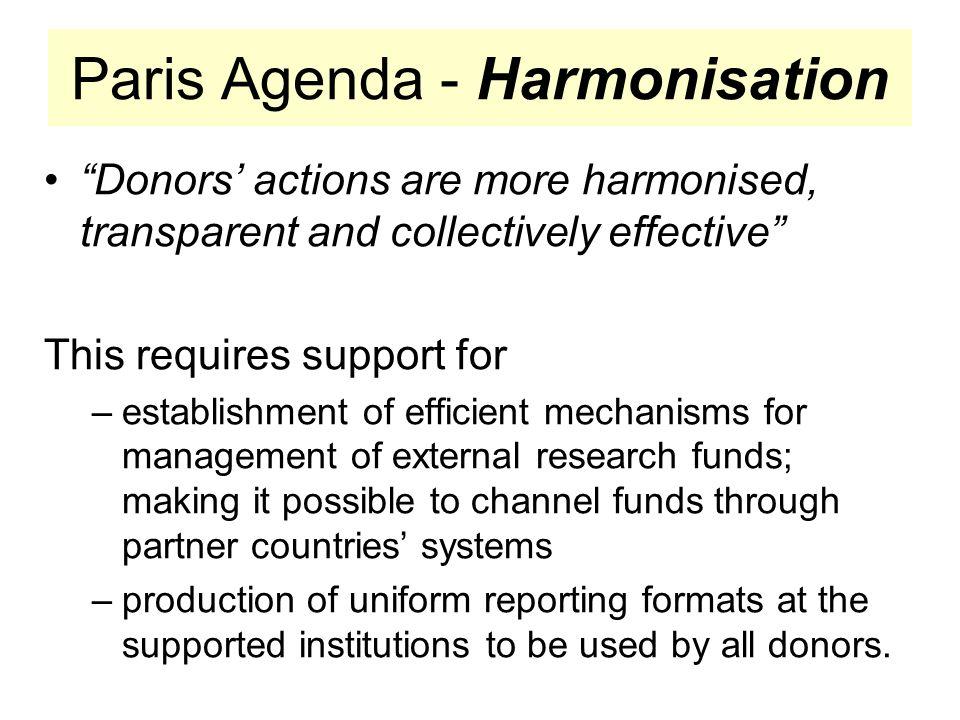 Paris Agenda - Harmonisation