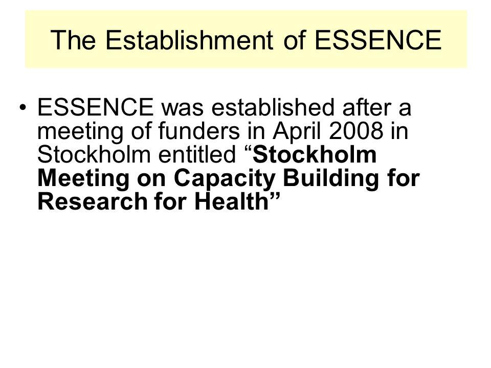 The Establishment of ESSENCE