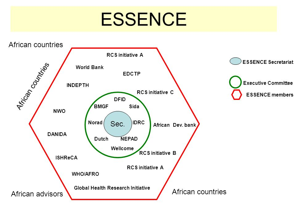 ESSENCE African countries African countries Sec. African countries