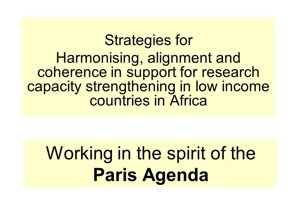 Working in the spirit of the Paris Agenda