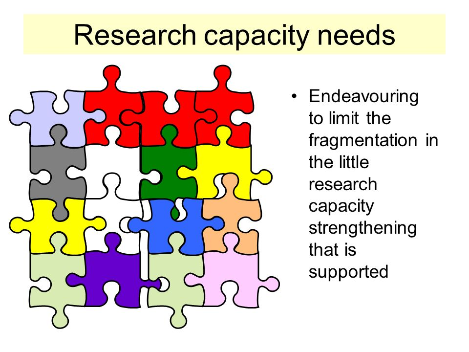 Research capacity needs