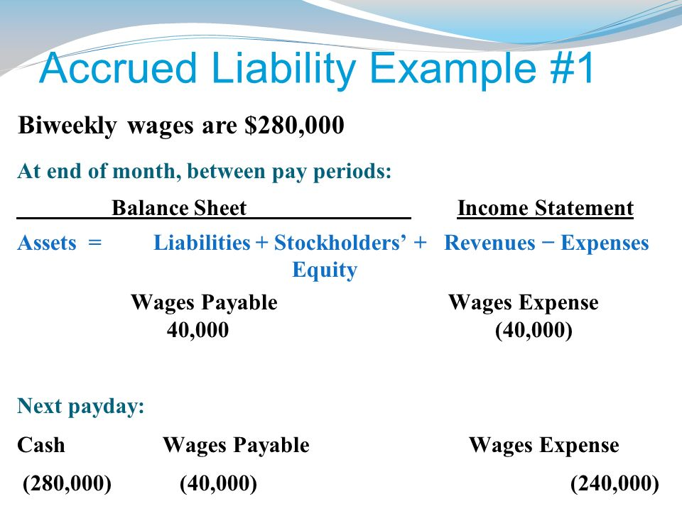 accrued liabilities Guide to what is accrued liabilities here we discuss this with practical accrued liabilities examples (starbucks) here we also look at accrued liabilities journal entries with examples and its importance.